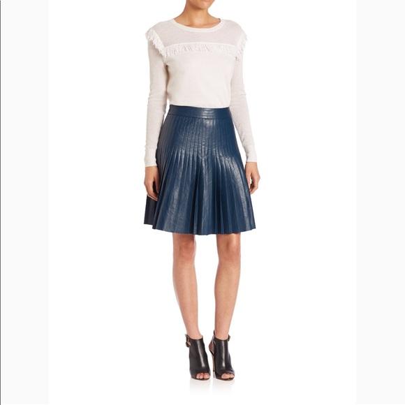 c094cf0c0b Rebecca Taylor faux leather skirt blue pleated 4 6.  M_5ae49a96a825a6037ecd07dc